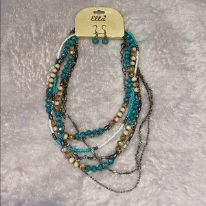 NWT Ella beaded necklace and earrings